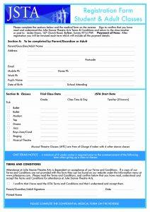 JSTA Forms Registration & Medical Form Rev 18